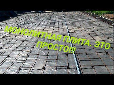 Подготовка монолитной плиты под бетон. Закладные и маяки.