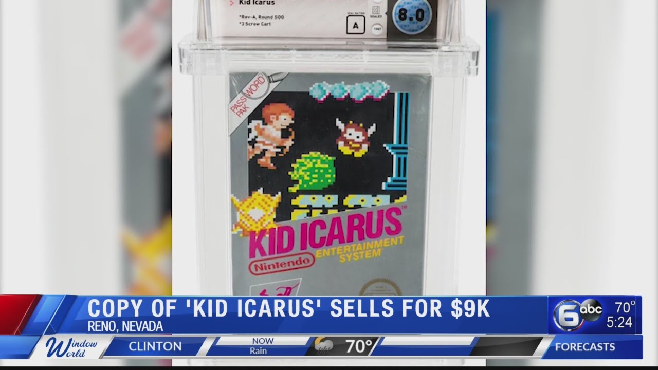 Watch: Sealed copy of Nintendo game 'Kid Icarus' sells for $9,000