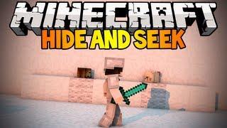 Minecraft Mini-Game: Hide and Seek! #1 w/ Kricken & Creepin!