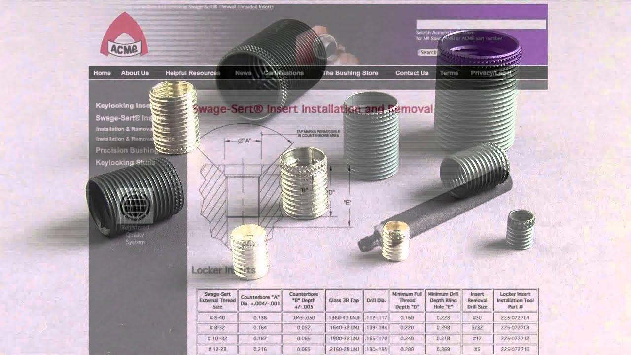 Repairing damaged threads: Types of thread repair inserts