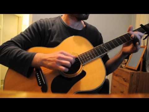 Robert Johnson Crossroads Blues acoustic cover - slide (no vocals)