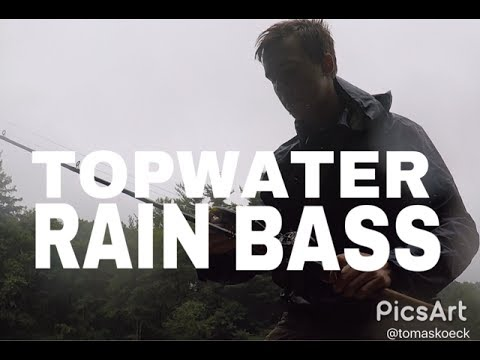 TOPWATER IN THE RAIN?!! - Fishing For Finicky Bass In The Pouring Rain!