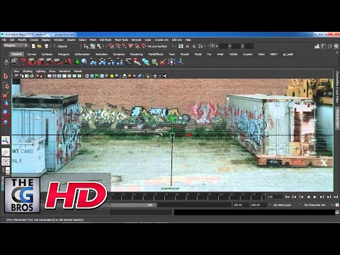 "CGI 3D Tutorial HD: ""Camera Mapping in Maya"" - by Studio Four Media"