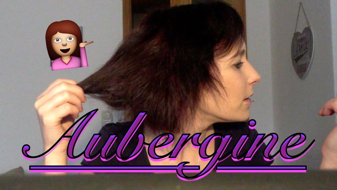 Haare färben braun auf aubergine! / passt die farbe!? / mit ...