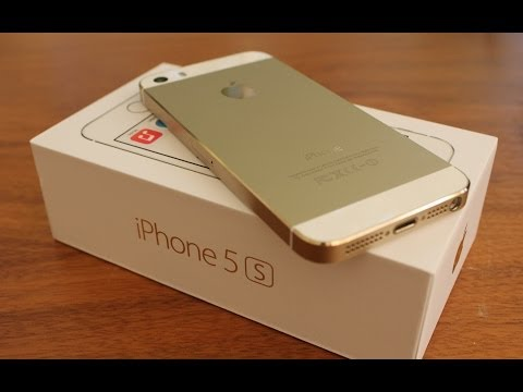 Gold iPhone 5s Unboxing and Setup (HD)