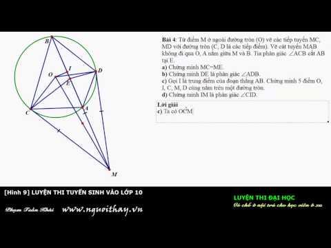 Tuyển sinh lớp 10 || Hình học lớp 9 (Phần 4 )|| Phạm Phong- nguoithay