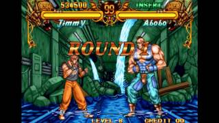 Double Dragon Neo Geo Level-8 Jimmy No Lose Playthrough