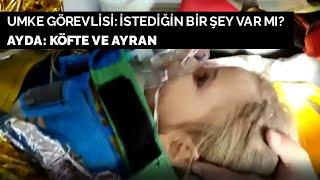 Mucize bebek Ayda, ambulansta köfte ve ayran istedi