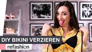 SOMMER DIY: Bikini mit Häkelbordüre verzieren ~ refashion | OTTO