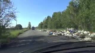 Несанкционированная свалка мусора. Тюмень