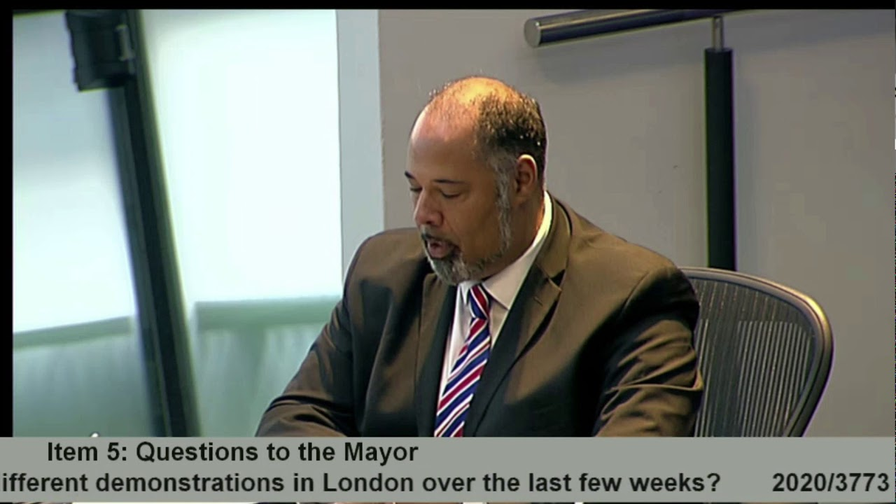 David Kurten grills Sadiq Khan on selective policing in London. Why are BLM treated softly-softly wh
