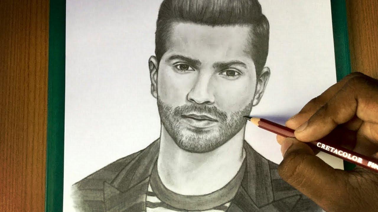Varun Dhawan Drawing | Sketch | Speed Drawing | HD - YouTube
