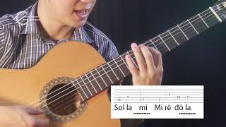 Hướng dẫn solo bài Thành phố buồn Phần Intro - Theo bản solo guitar Văn Anh