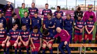 #برشلونة  في جلسة تصوير جماعية للفريق 29-02-2016-HD
