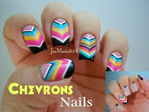 Nails for the Summer...CHEVRONS!!