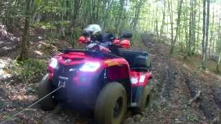 ATV-QUAD MUD-WINCH-4X4 CAN AM OUTLANDER 400 VISCO LOOK
