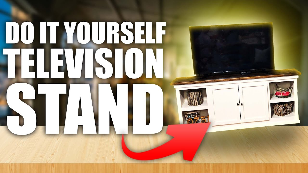 Diy Tv Stand With Storage Youtube