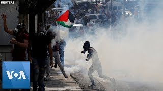Clashes in the West Bank City of Bethlehem at a Protest in Support of Gaza