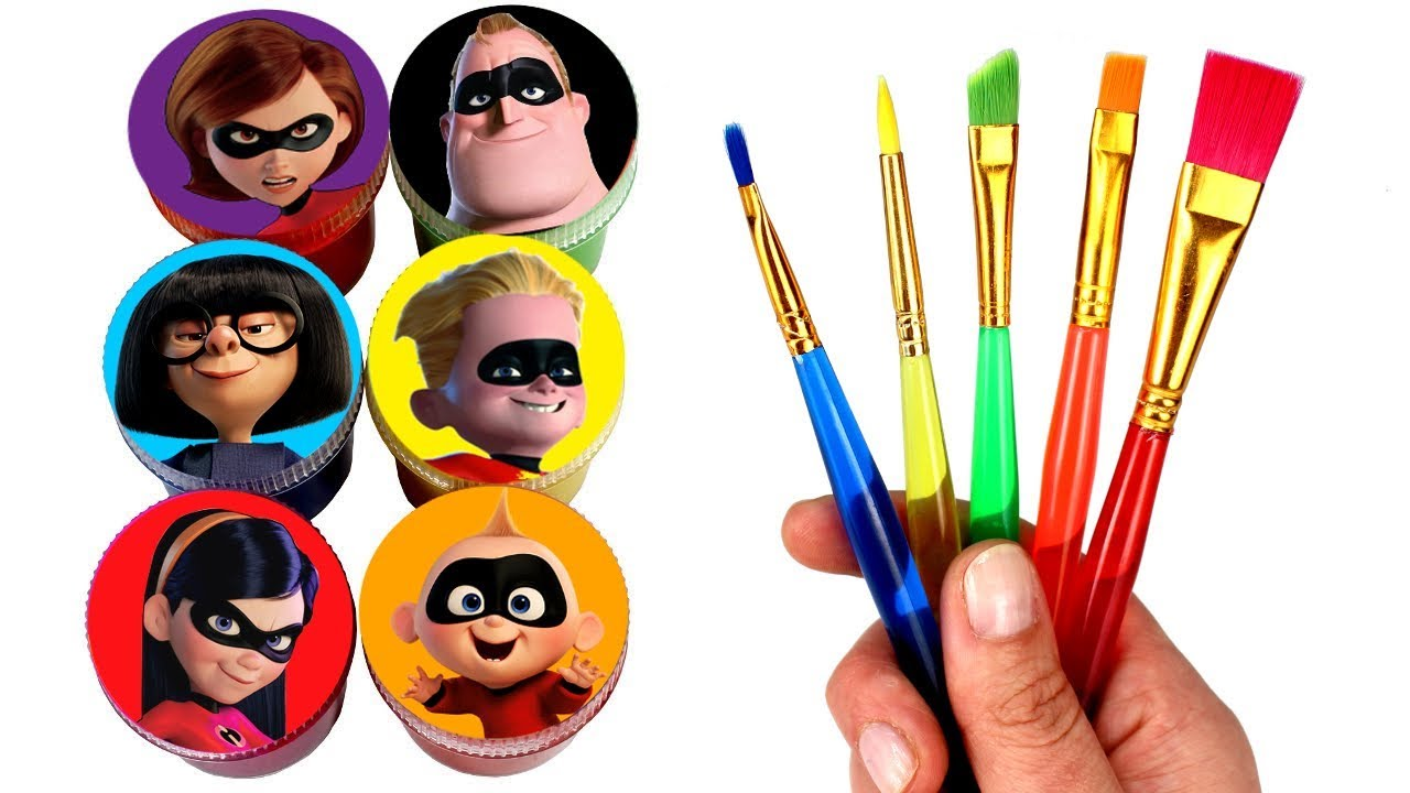 Incredibles 2 Drawing and Painting with Surprise Toys Jack ...