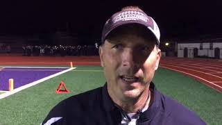 Pickerington North football coach Tom Phillips discusses his team's 31-0 shutout of Reynoldsburg.