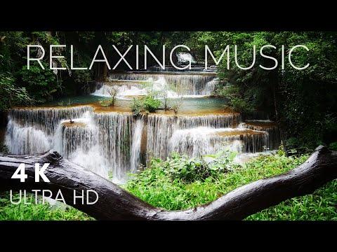4k WATERFALL Relaxing Music With Natural Sound | Meditation | Sleep | Nhạc thư giãn trị liệu.