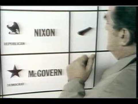 "Nixon/McGovern ""Alone in the booth"" Ad"