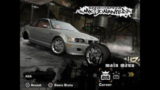 NFS Most Wanted (PS2) Unfinished Cars - BMW M3 (E46)