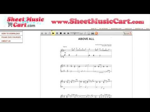 Paul Baloche  Above all Sheet Music