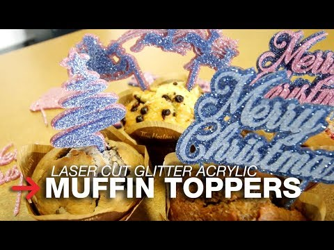 DIY Cake Toppers | Muffin Toppers | Laser Cut Glitter Acrylic