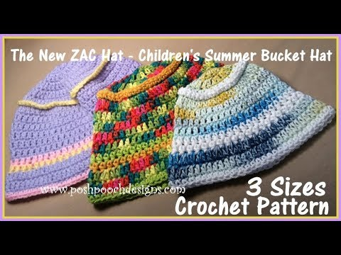 The New Zac Hat - Children's Summer Bucket Hat Crochet Pattern