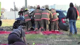 Accident désincarcération a L'Assomption mardi le 11 novembre 2014