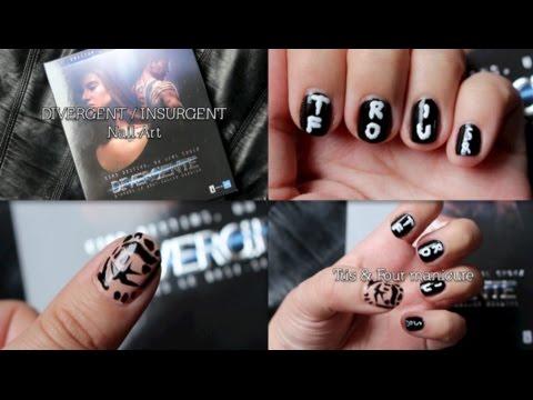 Divergent Nail Art Tris Four Manicure Youtube