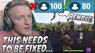 Tfue Explains Why Fortnite SHOULD NOT Have 100 People On The Map & Why It RUINS The Game!