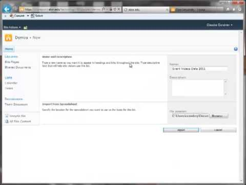 SharePoint 2010 Import Excel Data - YouTube