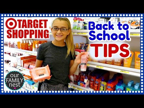 BACK TO SCHOOL SKINCARE TIPS & TARGET SHOPPING!