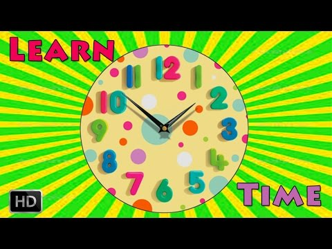 Learn To Tell The Time On Clock - Telling Time for Children
