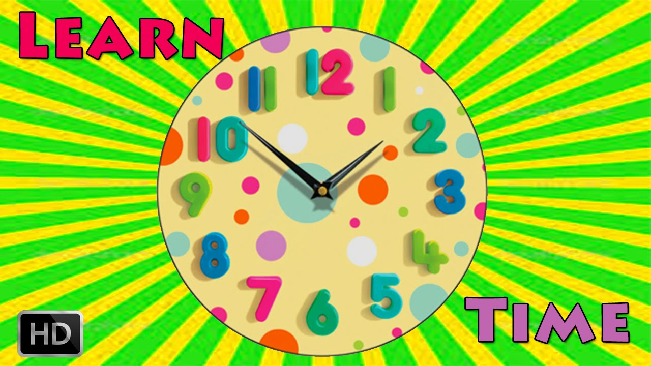 Learn To Tell The Time On Clock Telling Time For Children Whats
