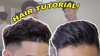 CURLY/WAVEY COMBOVER!! UPDATED HAIR TUTORIAL!!!!!