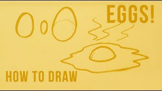 How to Draw an Egg - Easy Things to Draw