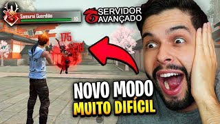 FUI DERROTADO NO MODO SAMURAI DO SERVIDOR AVANÇADO NO FREE FIRE!!