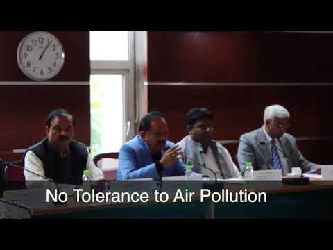 Dr Harsh Vardhan Reviews Clean Air Campaign in Delhi