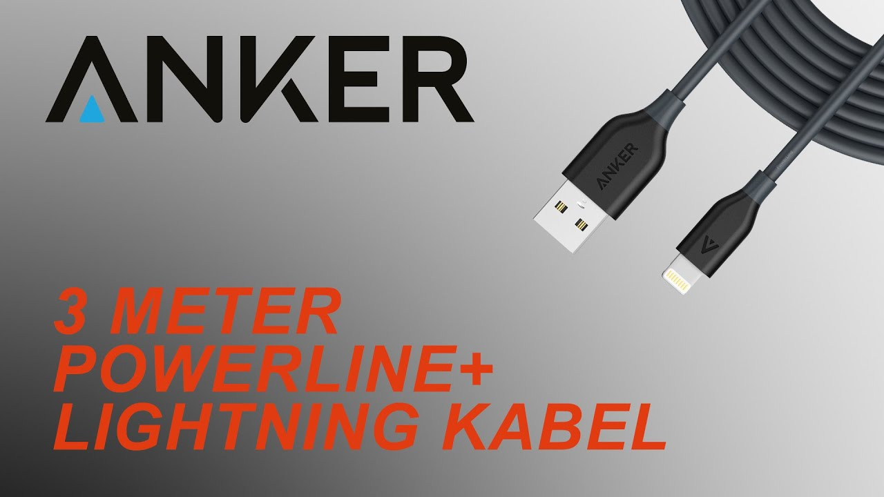 UNBOXING & REVIEW: Anker PowerLine+ Lightning Kabel (3m/10ft) - YouTube