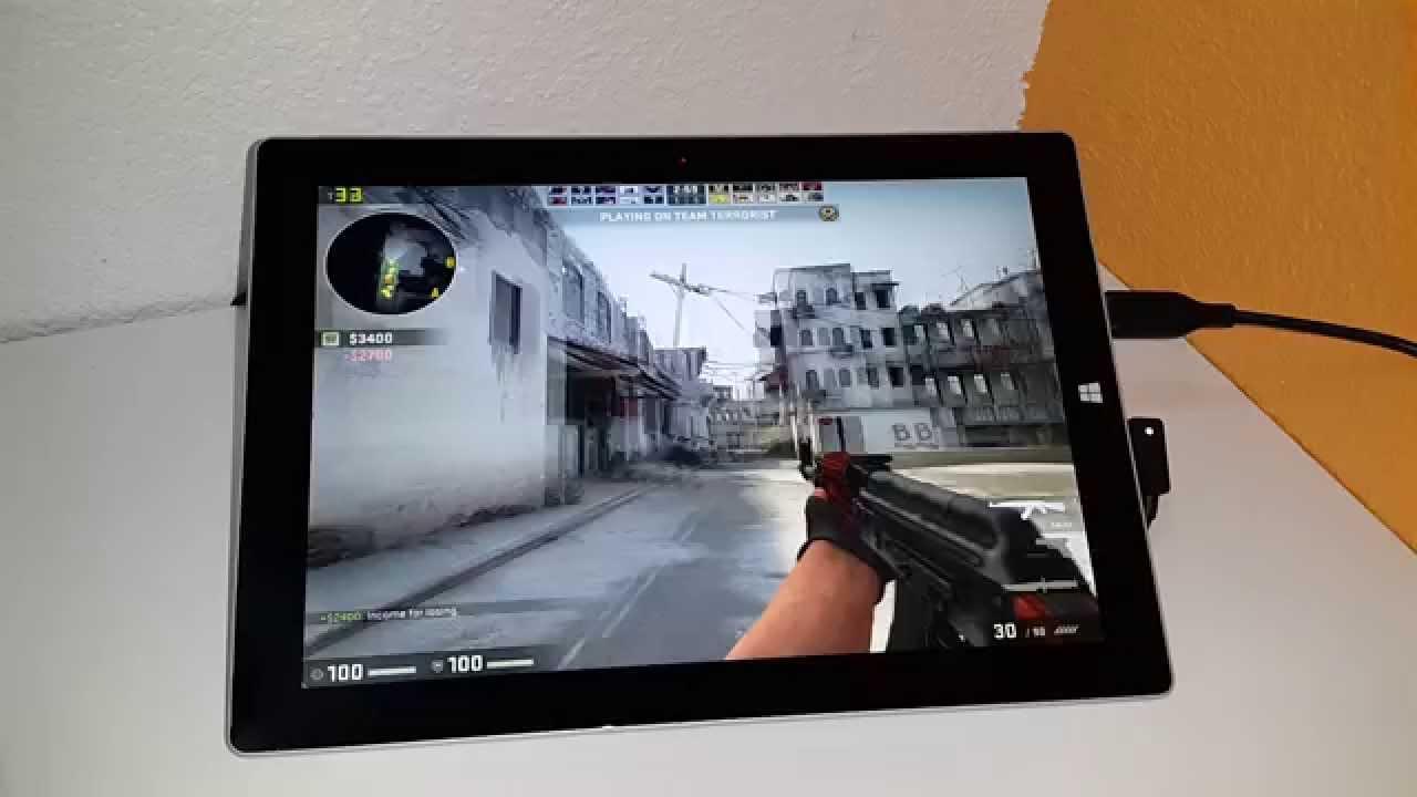 Surface 3 Atom Gaming Counter Strike Go Civ 5 Skyrim