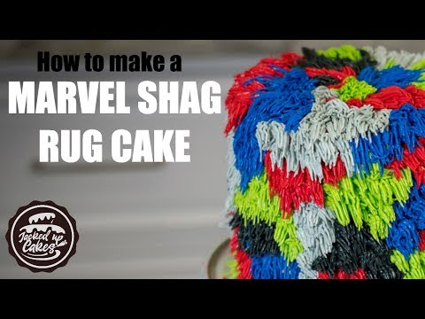 How to make a MARVEL SHAG RUG CAKE | Jacked Up Cakes with Jack Rogers