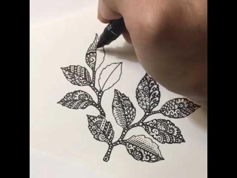 Hướng dẫn vẽ lá doodle| Vẽ lá doodle| Huong dan ve la doodle| Ve la doodle
