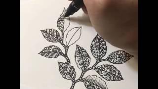 Hướng dẫn vẽ lá doodle  Vẽ lá doodle  Huong dan ve la doodle  Ve la doodle