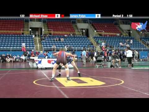 Fargo 2012 132 Round 4: Michael Olsen Kansas vs. James Palys Pennsylvania