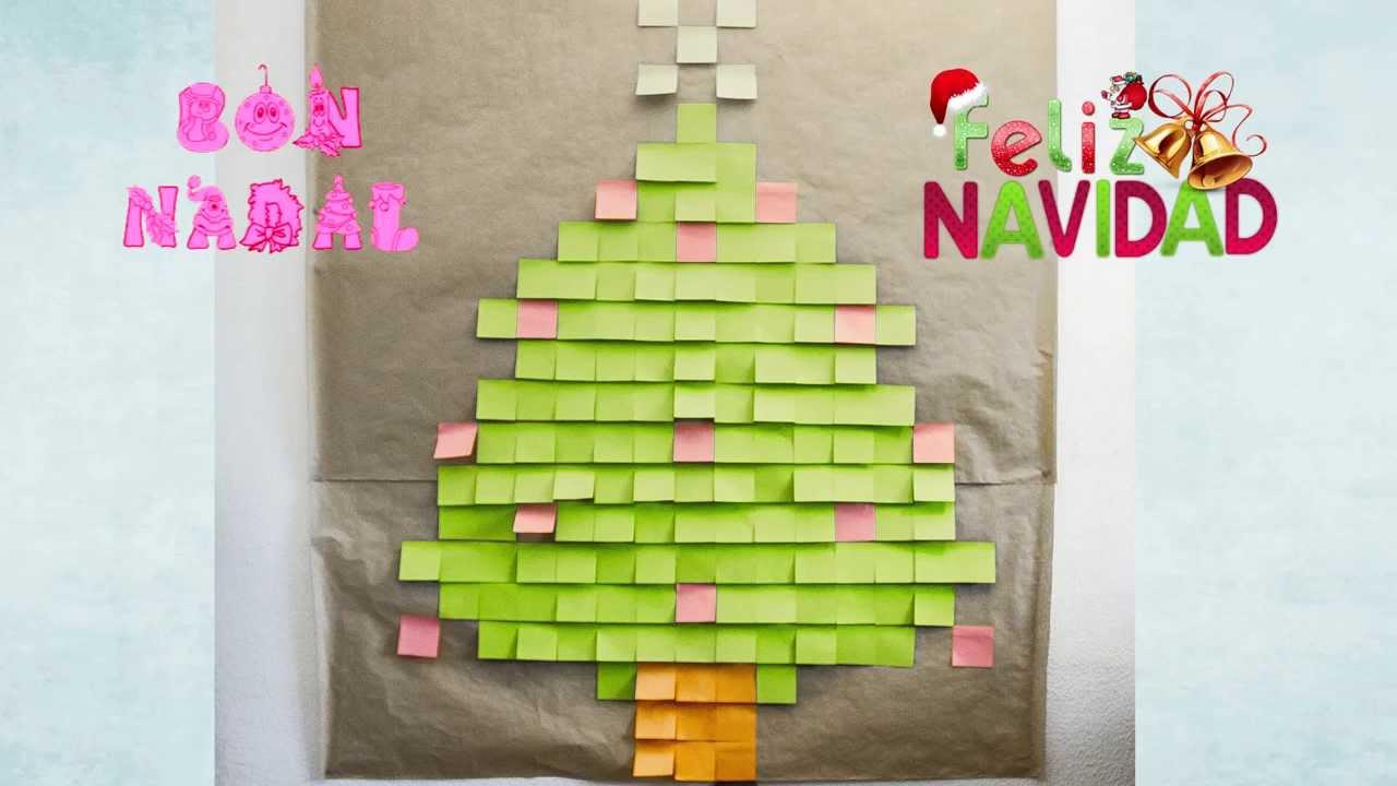 Post It Christmas Tree Árbol De Navidad Hecho Con Tutorial Diy