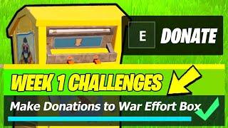 Make Donations to a War Effort Donation Box LOCATIONS (Fortnite Season 8)