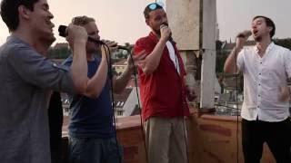"Sixtones performes live ""Este fess a pesti nő"", with the sudden fea..."